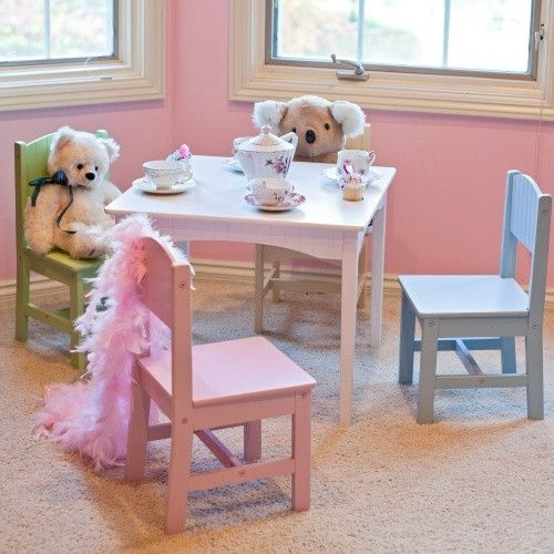 kidkraft nantucket pastel table and chair set - 26101 | big girl