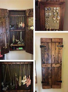 Pallet Wood Jewelry Rack Design wooden pallet jewelry ...