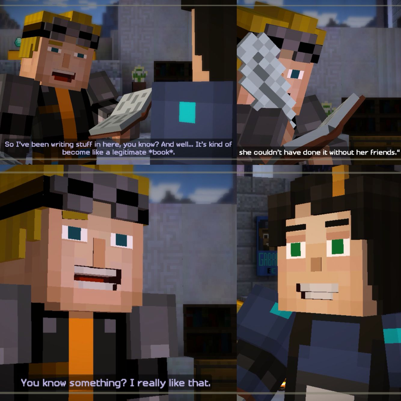 Minecraft Story Mode Be Nice To Slab Ok Things Conclude A Bit