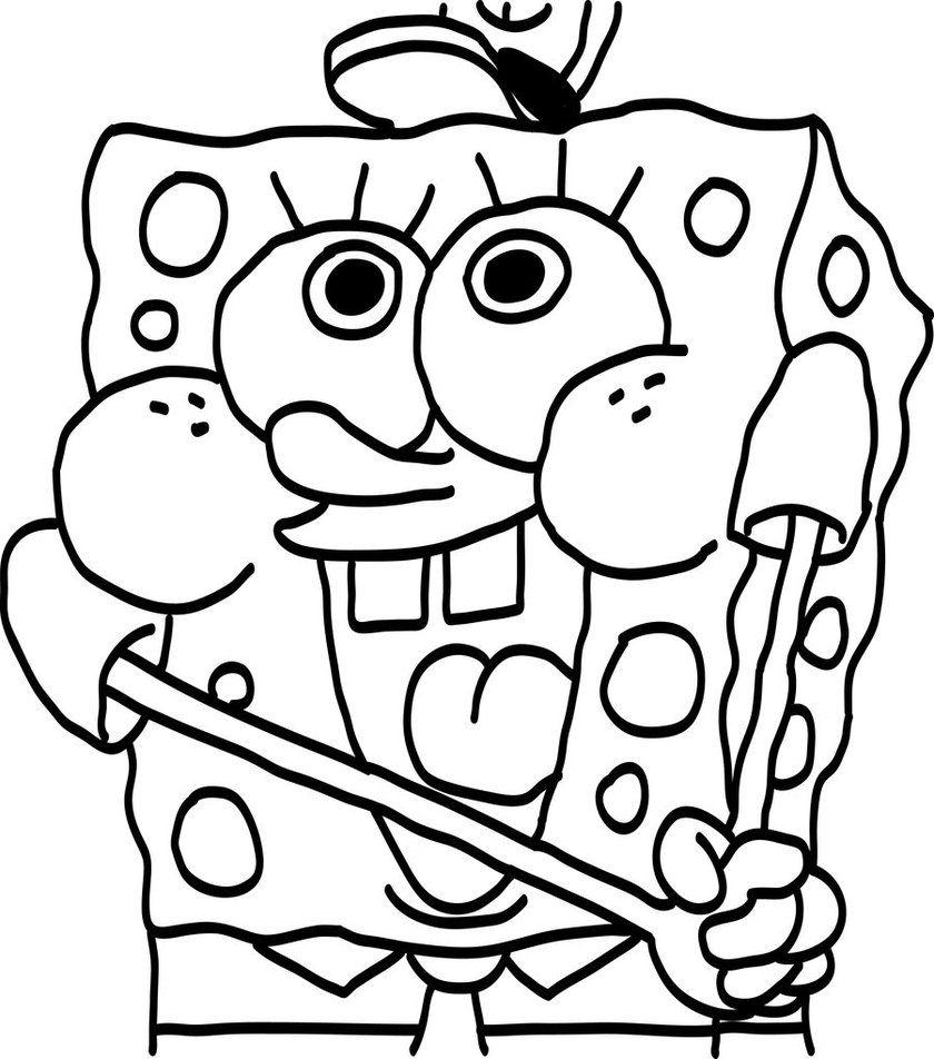 Baby Spongebob Coloring Pages Spongebob Coloring Cute Coloring Pages Coloring Pages