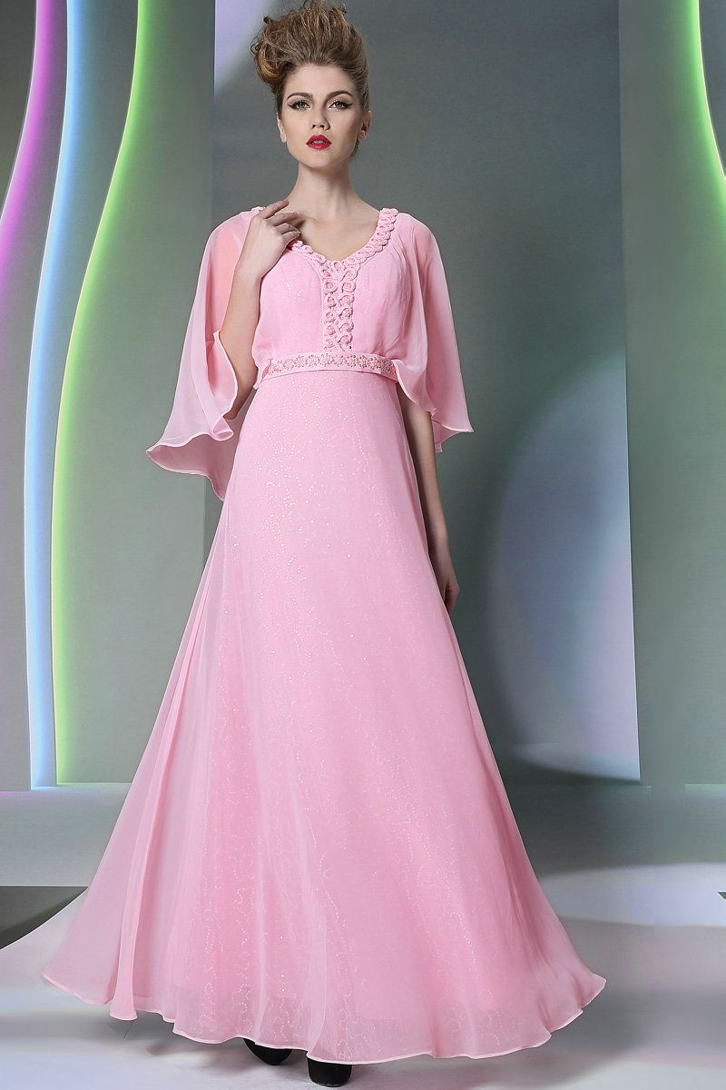 Flowing Dress with Sleeves