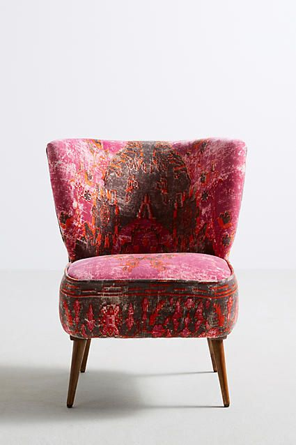 Anthropologie Dhurrie Accent Chair This Handcarved