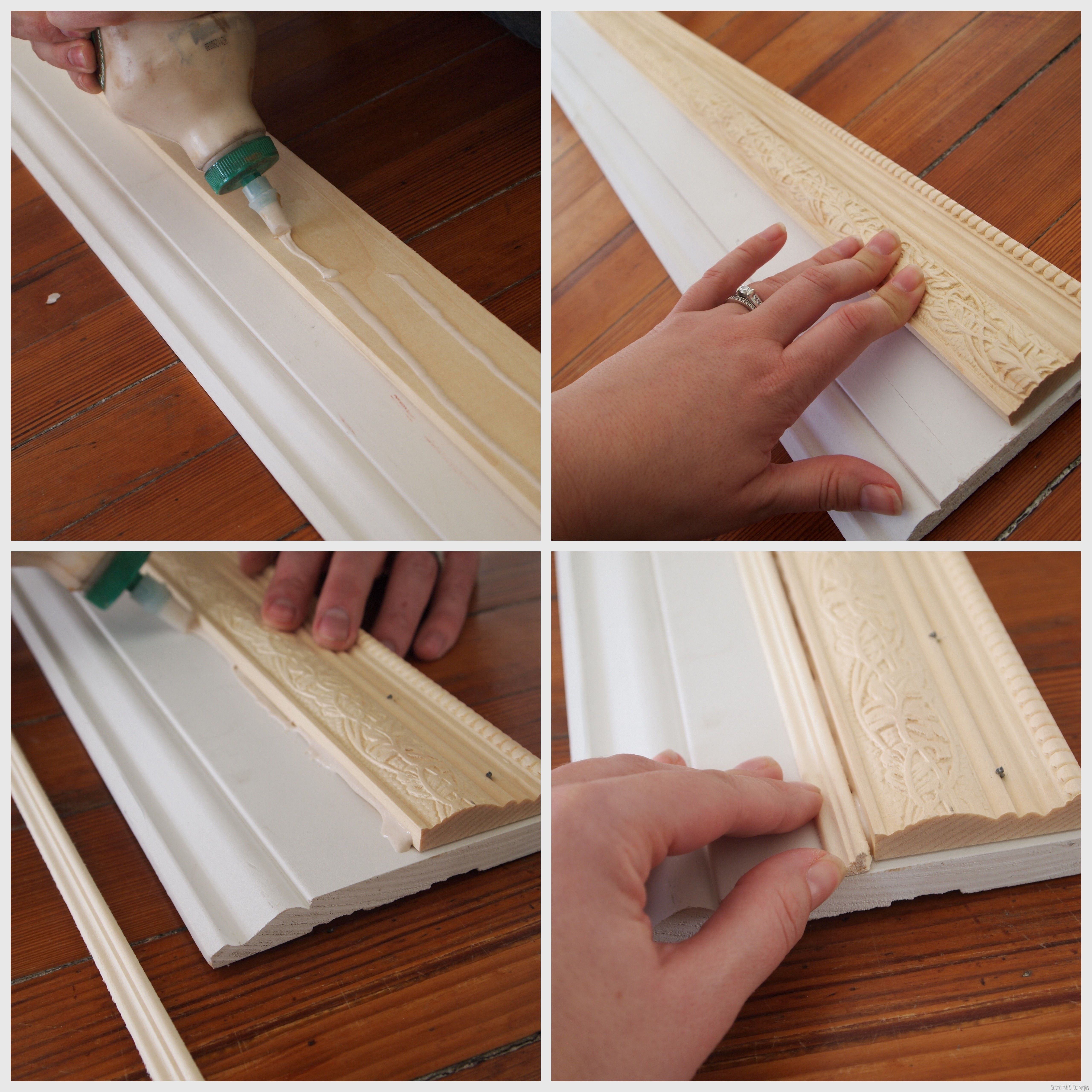 How To Build A Custom Frame Out Of Trim Pieces With Images Diy