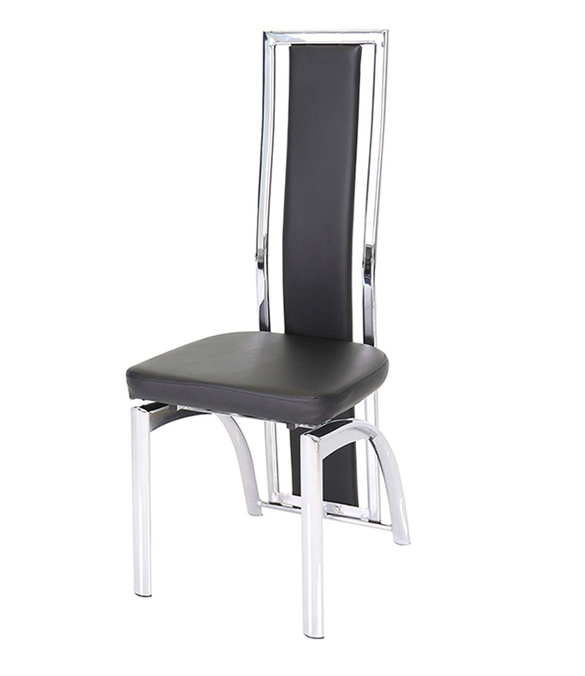 Mayfair High Back Faux Leather And Chrome Black Dining Chair Mayfair High Back Faux Leather And Chrome Black Dining Chairs Dining Chairs Diy Modern Furniture