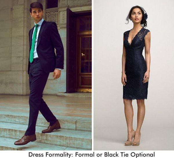 Formal Or Black Tie Optional Wedding Guest Attire