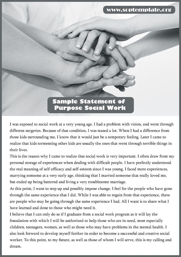 Avail Our Quality Sample Statement Of Purpose Social Work  Sop