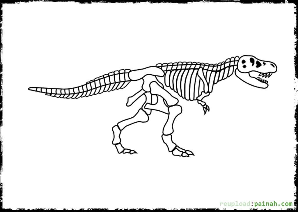 30 Inspiration Picture Of Skeleton Coloring Pages Dinosaur