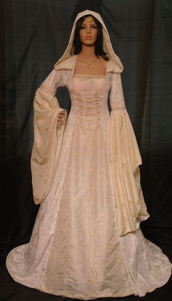Meval Dress Renaissance Wedding Handfasting Pagan Scottish Widow Hood Custom Made