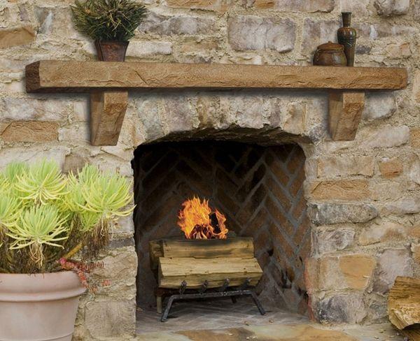Austin Stone Fireplace | ... Mantels Perfection Cast Stone Mantel Shelf Natural  Stone Simulation