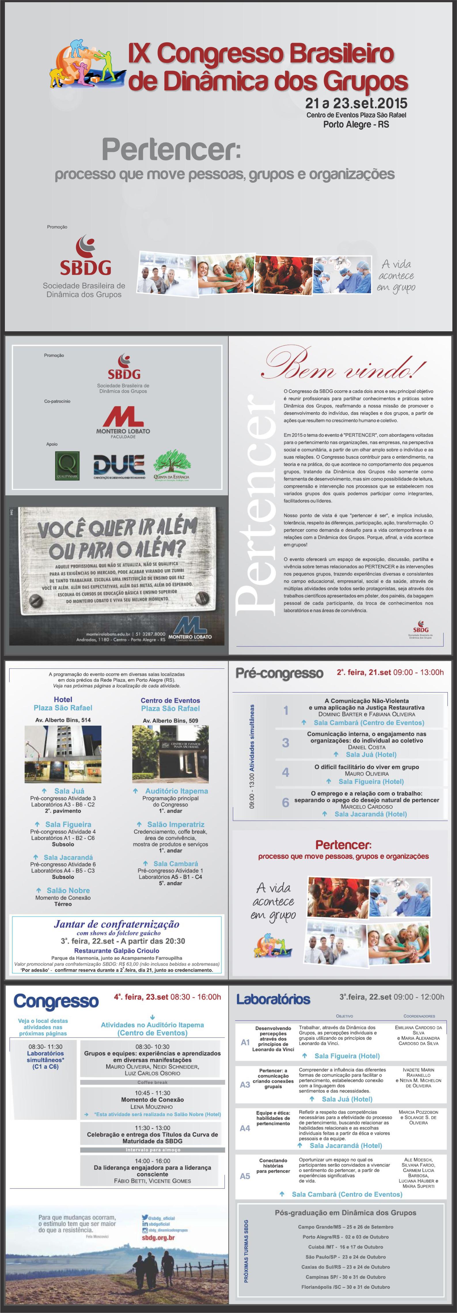 Revista-programa de evento, projeto gráfico e edição, 2015.
