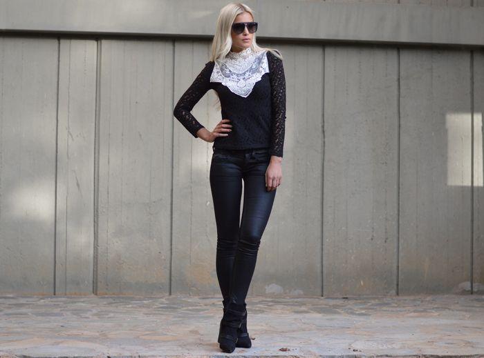 outfit, idamarieisaksson, gucci, gstar, kells, black, lace