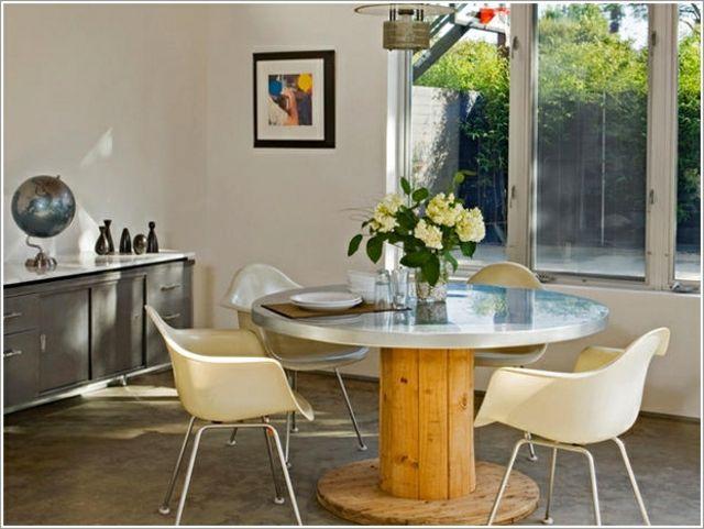 Table De Salle à Manger Originale Et Personnalisable Table Ronde - Table salle a manger en palette pour idees de deco de cuisine