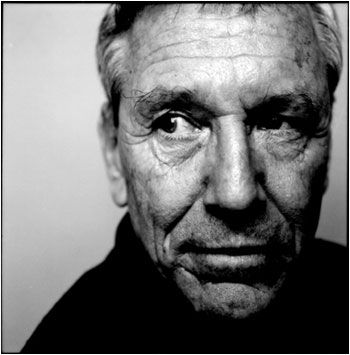 Amos Oz (1939) - Israeli writer, novelist, journalist and intellectual.  Photo Steve Pyke, NY 2004