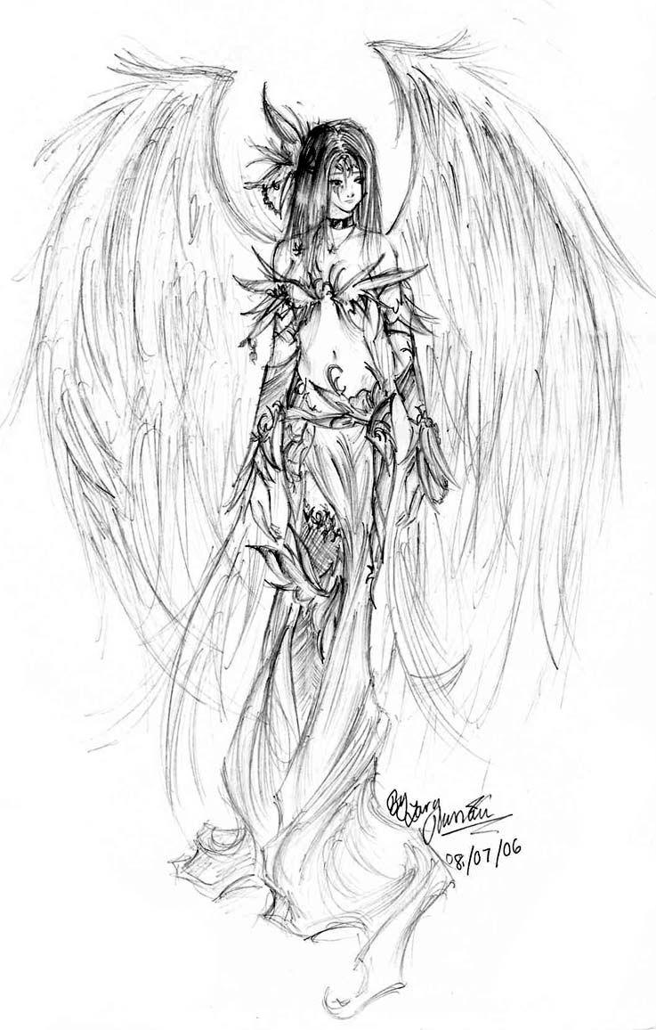 Gothic Angel Tattoo Design Photo 4 Dizajn Tatu Angela Goticheskij Angel Goticheskaya Tatu