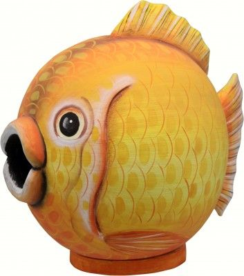 Gourd Goldfish Shaped Birdhouse Happy Holidayware Bird Houses Hand Painted Gourds Gourds Birdhouse