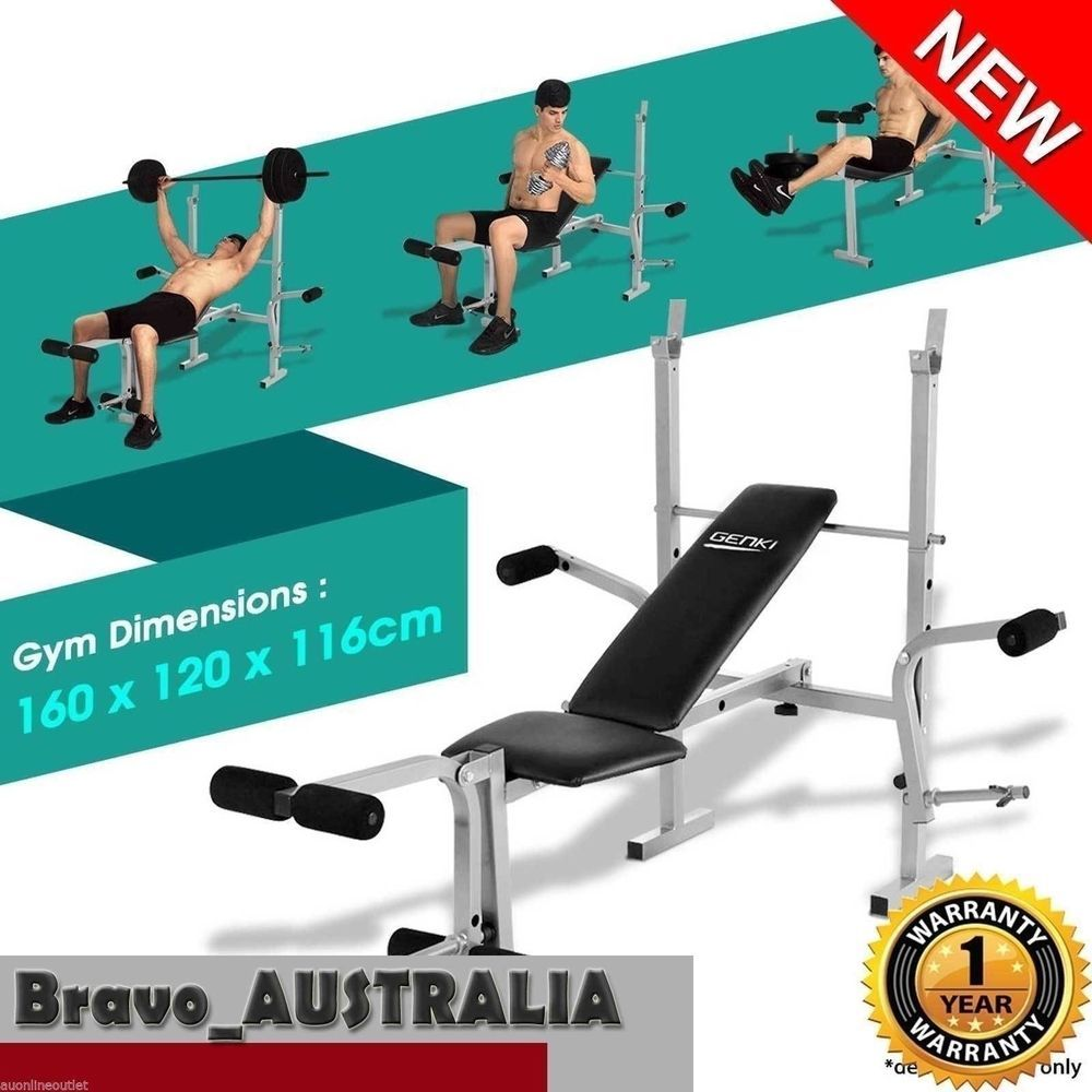 Home Gym Weight Bench Part - 43: Fitness Adjustable Multi-station Home Gym Weight Bench Press Incline AB  Exercise