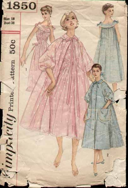Your business! vintage nightdress pattern