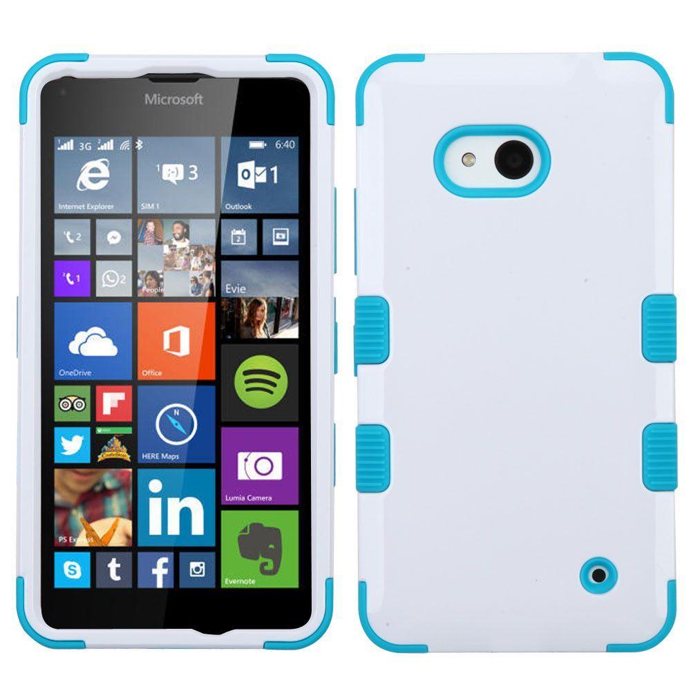 MYBAT TUFF Hybrid Microsoft Lumia 640 Case White/Teal