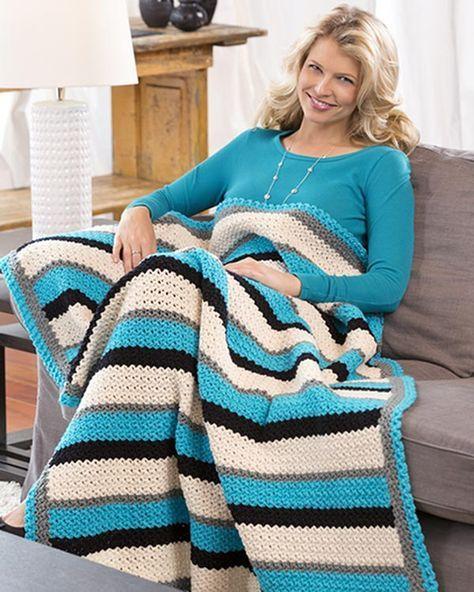 Best Free Crochet » Free Crochet Pattern Through Thick & Thin Throw ...