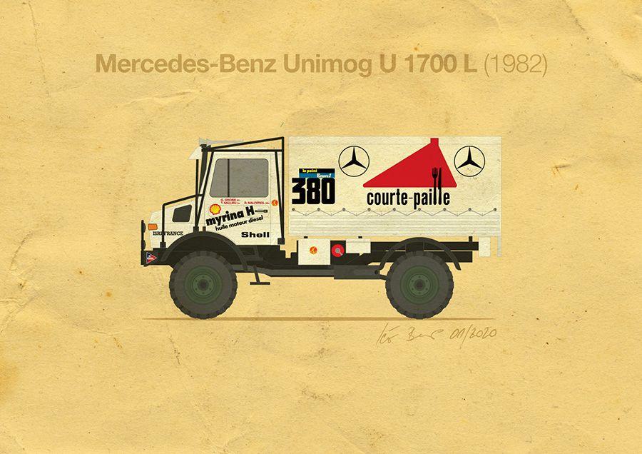Mercedes-Benz Unimog U 1700 L (Paris-Alger-Dakar 1982) GROINE / DE SAULIEU / MALFERIOL in 2020 ...