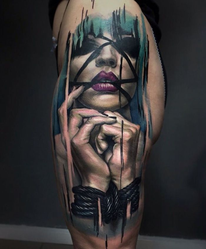 7edea63a91e75 All Tied Up Unique Tattoos, Amazing Tattoos, Tattoos For Lovers, Up Tattoos,