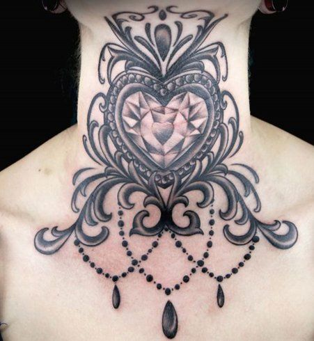 20 tatouages nuque qui vont vous inspirer bijoux victoriens gorge et tatouages de cou. Black Bedroom Furniture Sets. Home Design Ideas