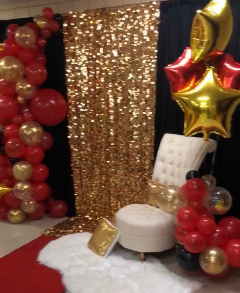 Pin By Ltbradley On Movie Theme Red Birthday Party Black And