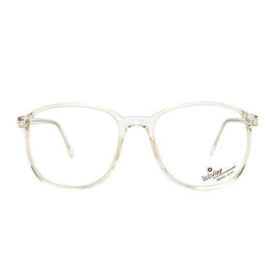 Oversized clear frame glasses - crystal transparent vintage ...