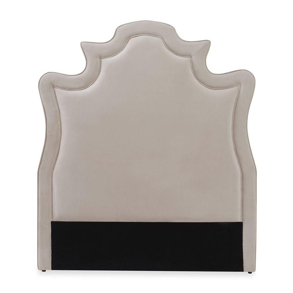 Liang Amp Eimil Royale Headboard Velvet Uk King Size Velvet Fabric Baroque Style King Size Headboard Invite The Elegance Of Antique French Furniture Int