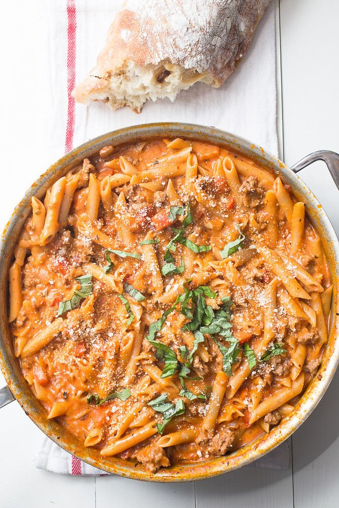 One-Pot Creamy Sausage Pasta images