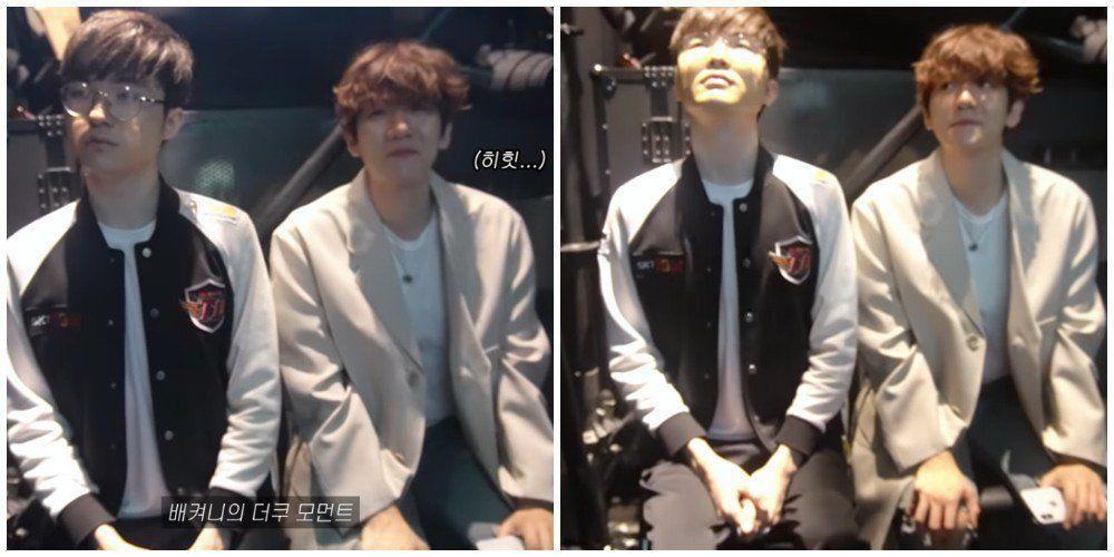 Baekhyun Turns Into The Cutest Fanboy After Meeting Lol Legendary Player Faker Baekhyun Fanboys Lol