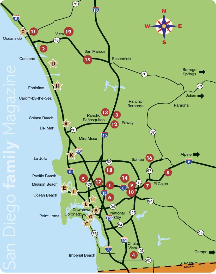 San Diego Family Magazine 2012 Map of Christmas Lights