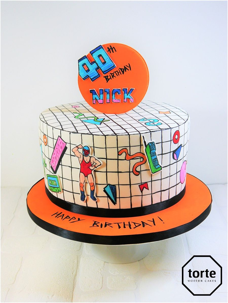 80s Icons And Wrestling Birthday Cake Birthday Cake Wrestling