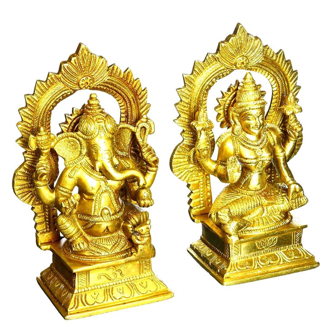 Hand Palm Lord Ganpati Ganesha ji Idol Murti Decorative Showpiece Figurine Gifts