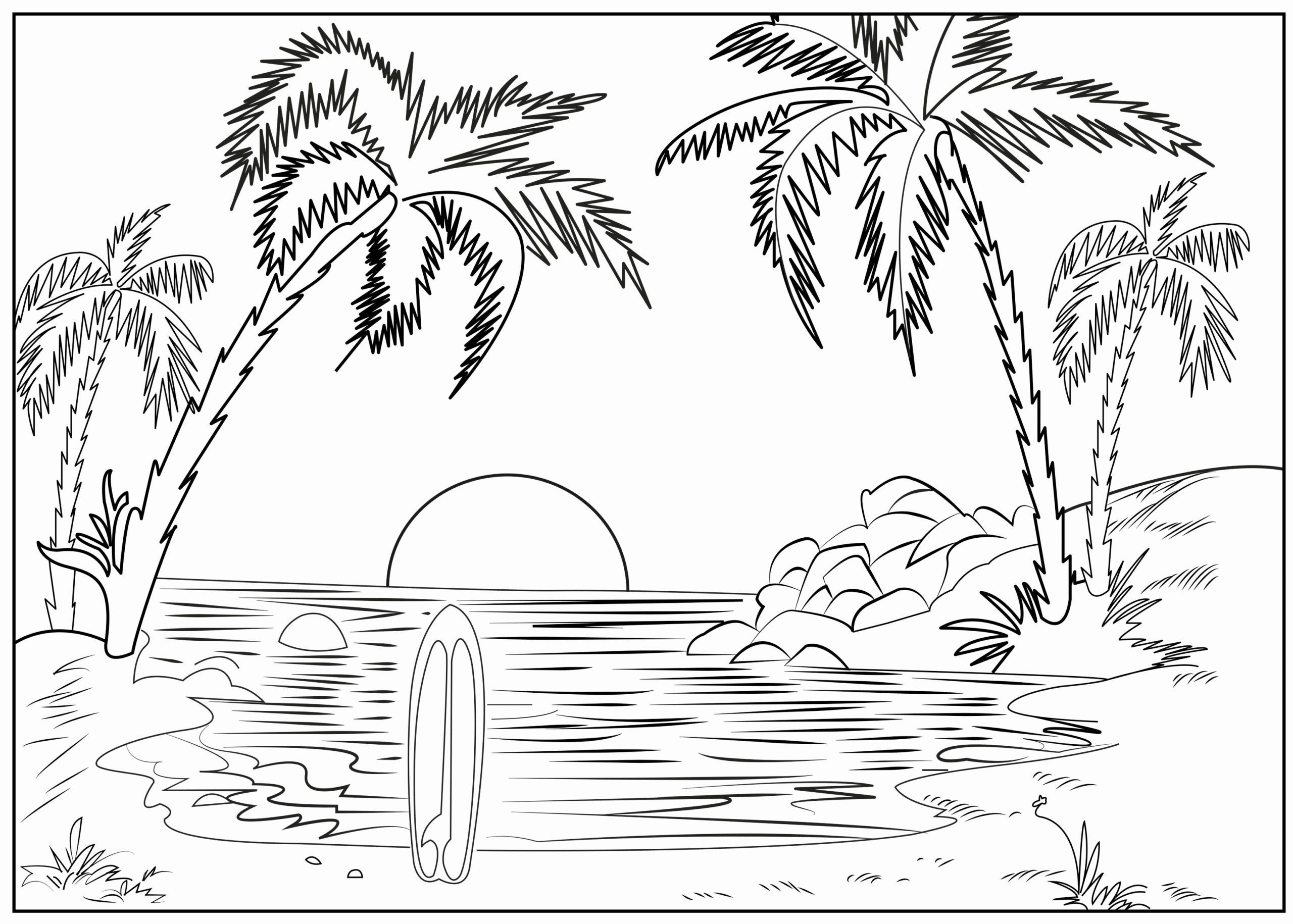 Coloring Pages Nature Scenes Inspirational Nature Scenery Coloring Page In 2020 Coloring Pages Nature Beach Coloring Pages Coloring Pages