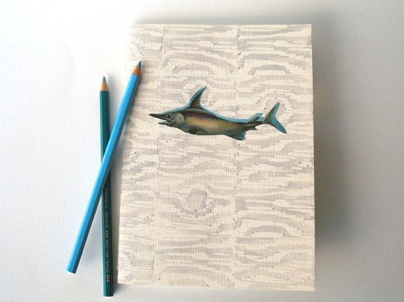 One of a Kind A5 Notebook with Window Cut Vintage by #PapierRivier #schrift #A5schrift #Etsy