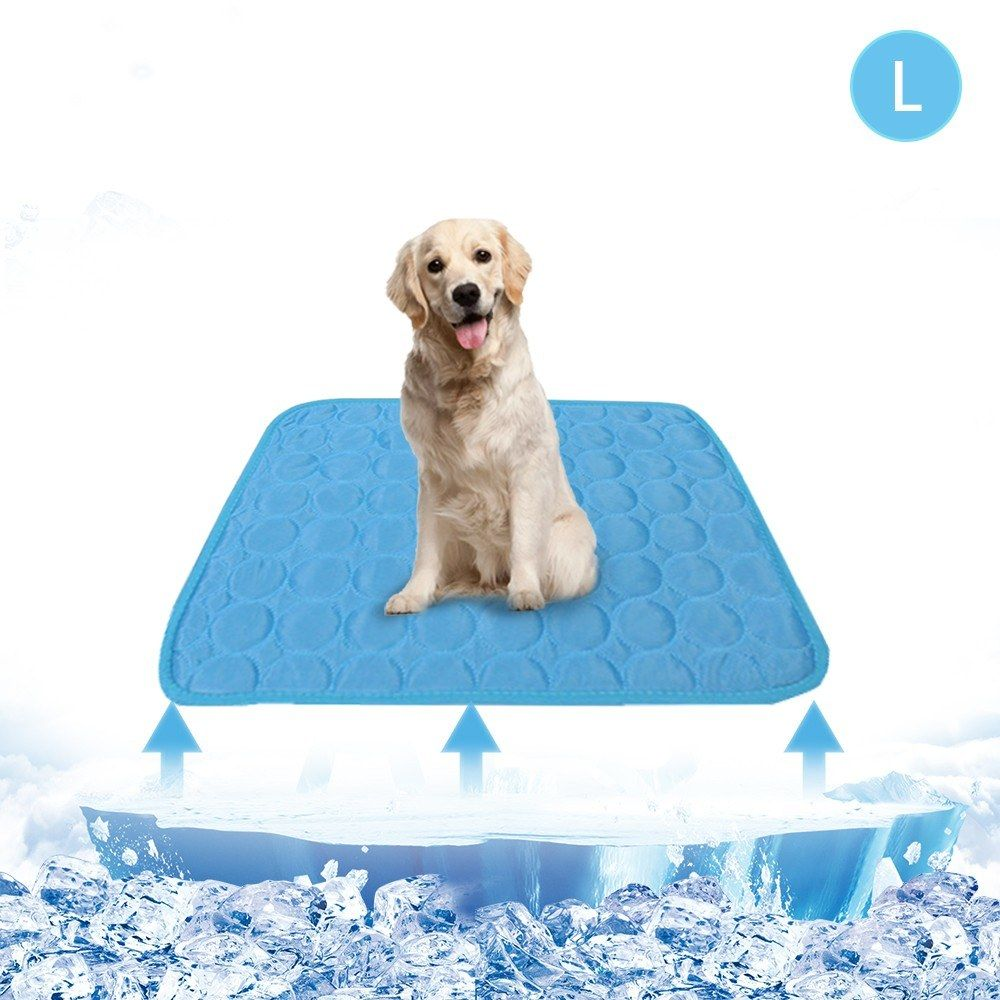 Summer Cooling Mat For Pet Breathable Pet Pad Portable Washable Pet Cooling Blanket For Small Medium Large Pet Boughtagain In 2020 Pet Pads Cooling Blanket Large Animals