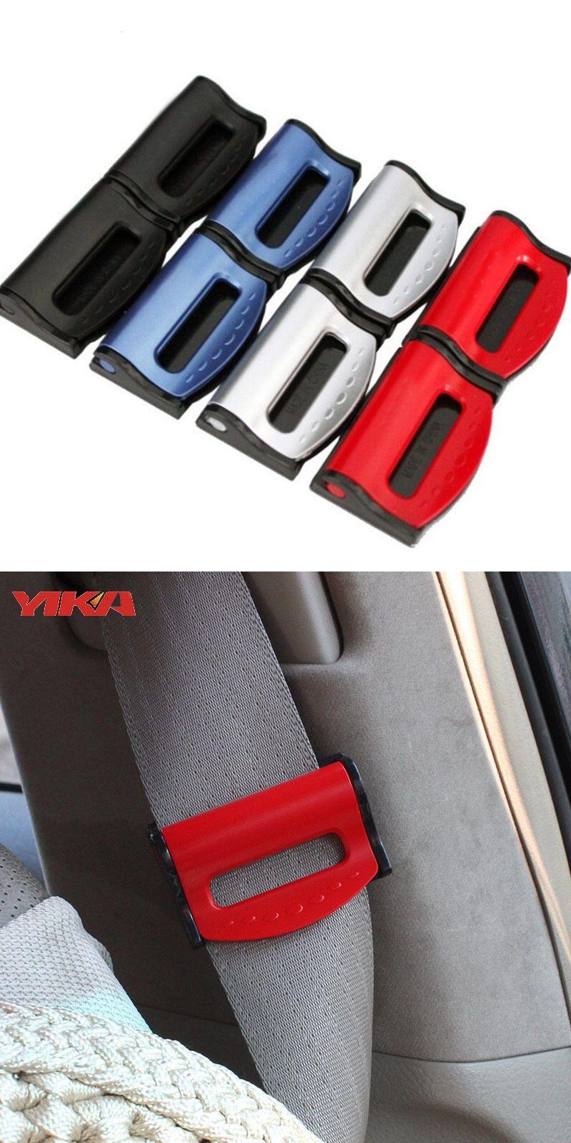 2pcs Car Seat Belts Clips Safety Adjustable Stopper Buckle Plastic ...