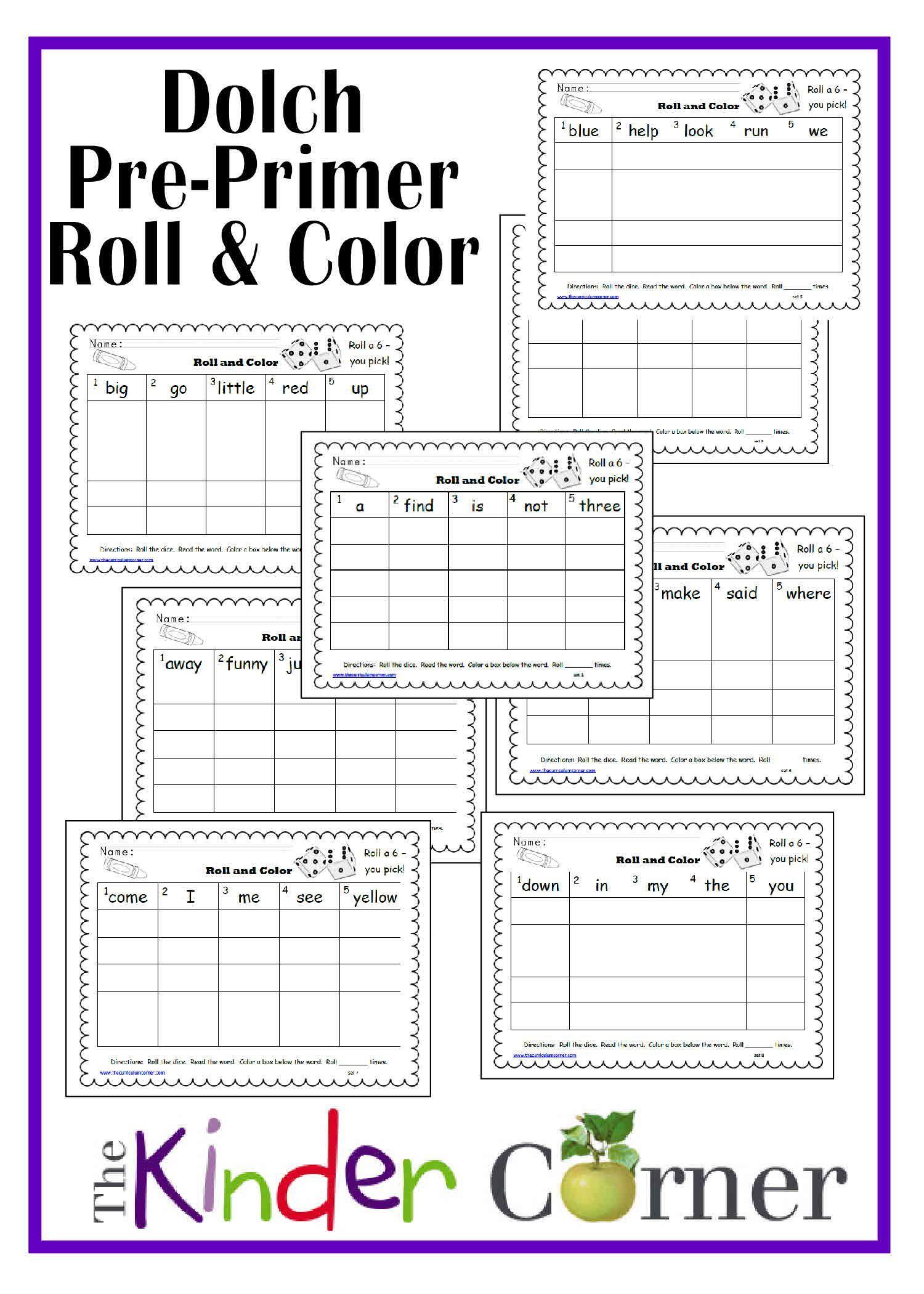 Dolch Pre Primer Roll Amp Color