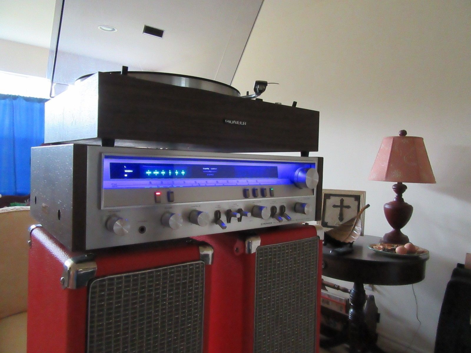 45 WPC PIONEER SX-3700 VINTAGE STEREO RECEIVER LED LIGHTS