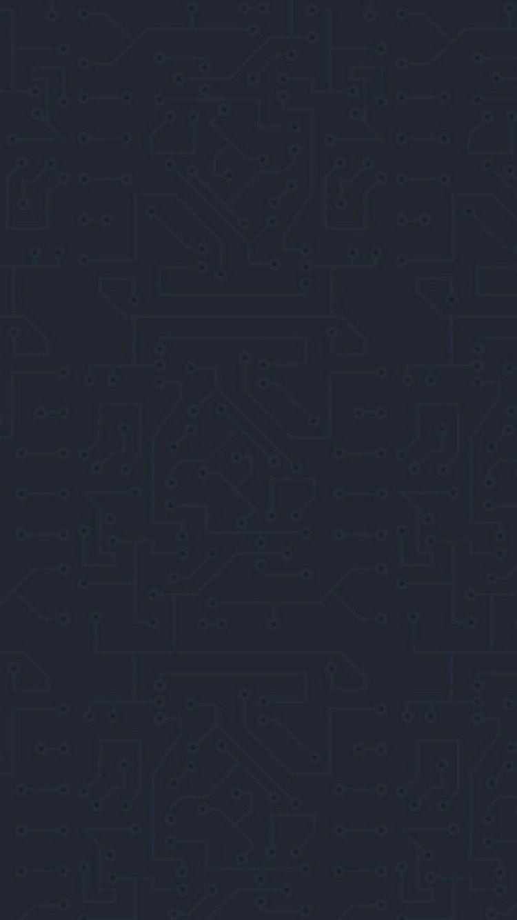 Dark Circuit Board Pattern iPhone 6 Wallpaper