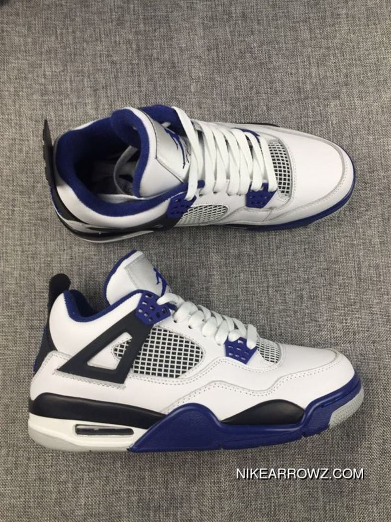 new style fd04a a4a33 New Release Air Jordan 4 'Motorsport' White/Ultraviolet ...
