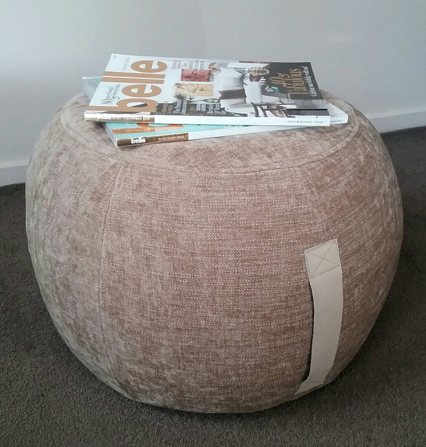 Outstanding Ottoman Pouf Straw Color Pouf Round Pouf Beanbag Pouf Gmtry Best Dining Table And Chair Ideas Images Gmtryco