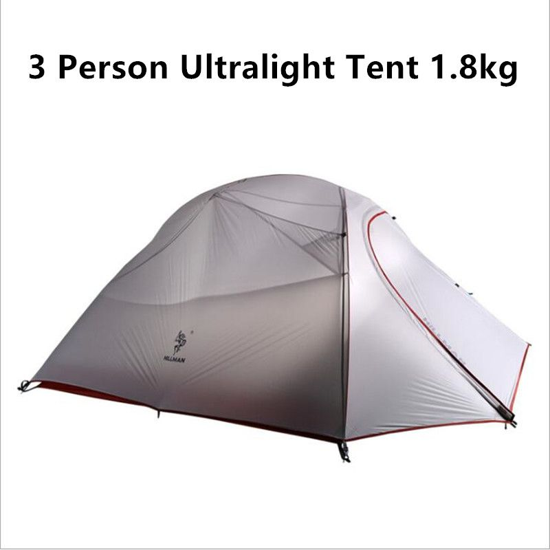c&ing road trip 1.8KG Ultralight 3 Person Tent 20D Silicone Fabric Double Layers Aluminum Rod  sc 1 st  Pinterest & camping road trip 1.8KG Ultralight 3 Person Tent 20D Silicone ...