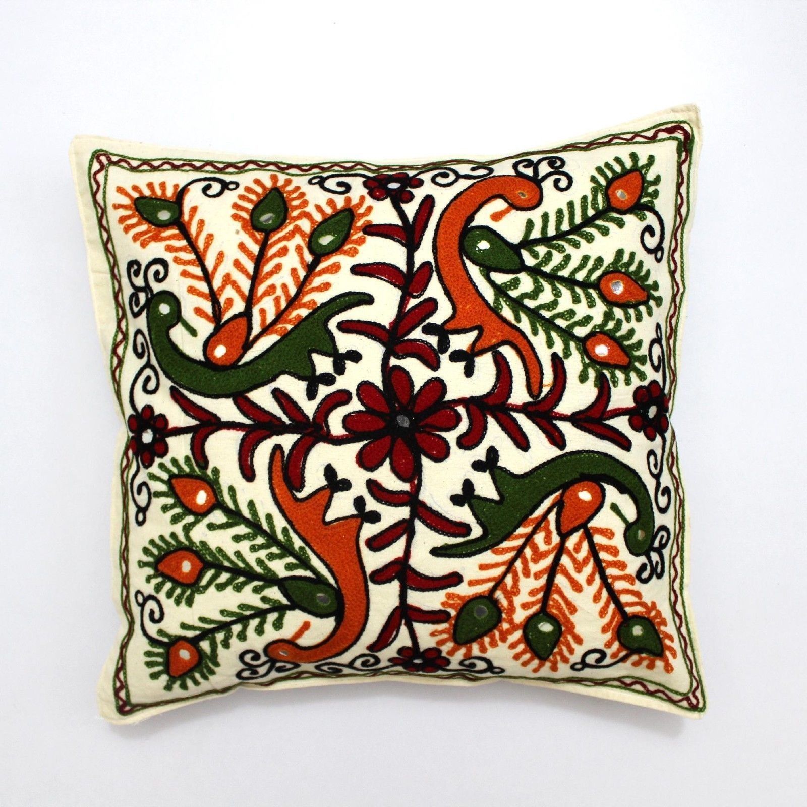 Suzani home decor tropical ethnic indian pillow sham couch cushion