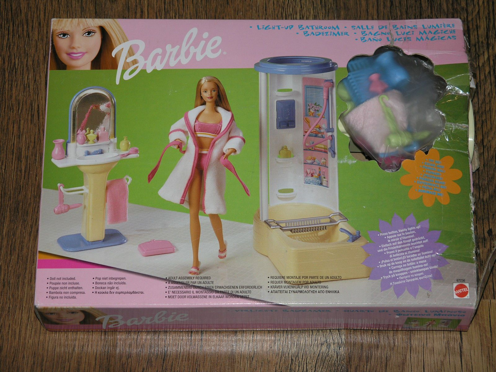 Barbie Vintage Light Up Bathroom Set 67236 in Dolls & Bears ...