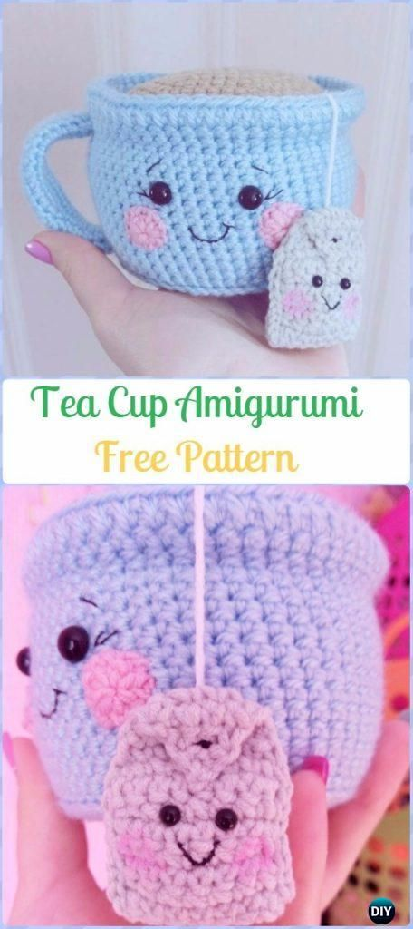 Crochet Teacup Free Patterns & Tutorials #crochettoysanddolls