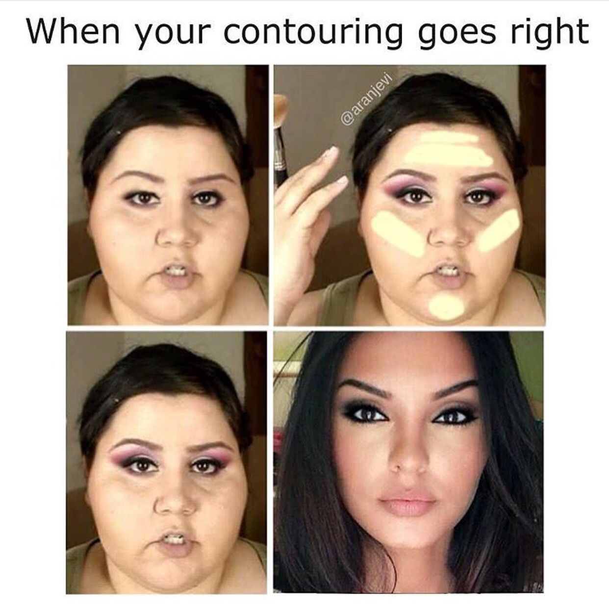 68841d0ca7b520c2a5fe348ca7fd4878 the magic of contouring! bam! loveee ! beautiful before and after