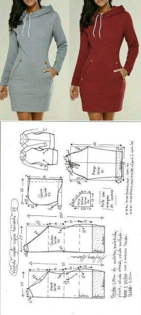 Perfektes Hoodie-Kleid für das kühlere Wetter - nähen schnittmuster #keinekleidungnähen