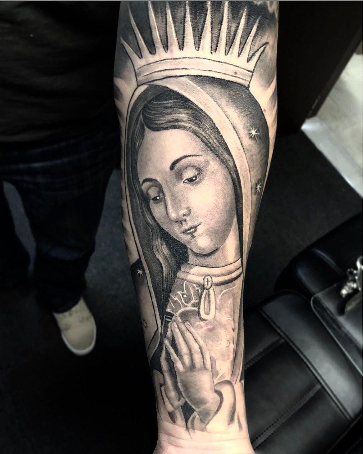 Amazing Artist Jorge Jamaica Jamaica Tatts Awesome Virgin Mary Guadalupe Arm Tattoo Healed View Jo Tatuaje Virgen Maria Tatuaje Virgen Virgen De Guadalupe